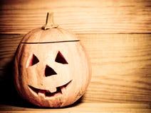 halloween handgjord pumpa Arkivbild