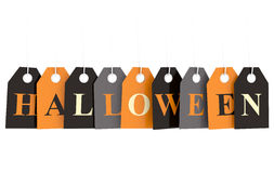 Halloween hanging labels Royalty Free Stock Image