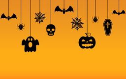 Halloween hanging ornaments background. Vector EPS10 Royalty Free Stock Images