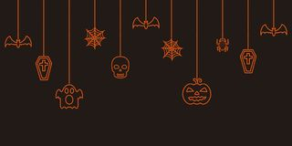 Halloween hanging ornaments background. Halloween hanging ornaments vector background Stock Photo