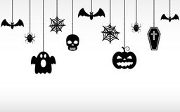 Halloween hanging ornaments isolated. Halloween banner Stock Photography