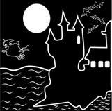 Halloween a hanté le château illustration libre de droits