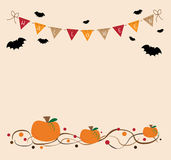 Halloween. Happy Halloween bats and pumpkins Royalty Free Stock Image