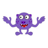 Halloween happy cartoon monster, funny, cute character vector illustration Royalty Free Stock Photography