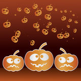 Halloween. Happy halloween graphic with pumpkin Royalty Free Stock Image