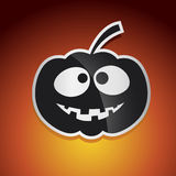 Halloween. Happy halloween graphic with pumpkin Royalty Free Stock Photo