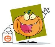 Halloween happy pumkin bag Stock Image