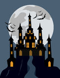 Halloween Haunted castle background Royalty Free Stock Images