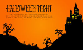 Halloween with haunted castle landscape Royalty Free Stock Photos