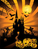 Halloween haunted castle vector Stock Photo