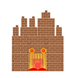 Halloween haunted castle vector Royalty Free Stock Photography
