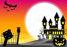 Halloween haunted castle Stock Photography