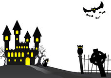 Halloween haunted castle Royalty Free Stock Photo