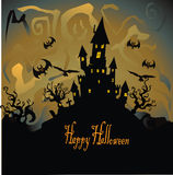 Halloween with haunted house Stock Image