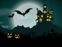 Halloween haunted house background Royalty Free Stock Image