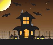 Halloween haunted house Royalty Free Stock Photo