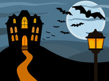 Halloween haunted house Stock Images