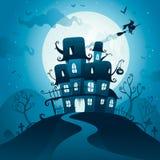 Halloween haunted house Royalty Free Stock Photo