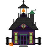 Halloween Haunted House. Spooky haunted house for Halloween Vector Illustration