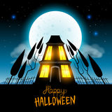 Halloween Haunted House Stock Image