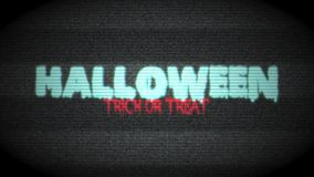 Halloween Haunted TV. Scary Halloween Trick or Treat Text. 4K Resolution Ultra HD UHD stock video footage