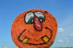Halloween Hay Bale en Gervis, Oregon Fotografía de archivo libre de regalías