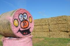 Halloween Hay Bale in Gervis, Oregon Stock Photography