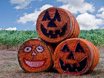 Halloween Hay Bales-8291 Royalty Free Stock Photos