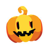 halloween head pumpa Royaltyfri Fotografi