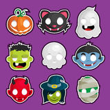 Halloween Head Stickers Stock Image