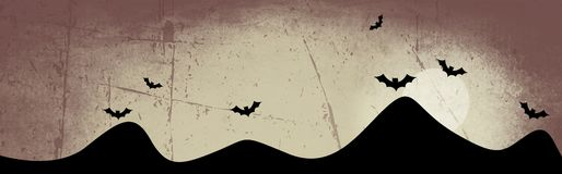 Halloween header / background royalty free stock images