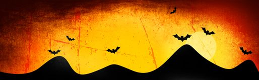 Halloween header / background Stock Photography