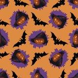 Halloween-hefboom-o-Lantaarn naadloos patroon Royalty-vrije Stock Foto's