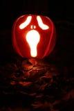 Halloween-hefboom-o-lantaarn pompoenen Stock Foto's