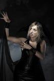 Halloween-heks stock afbeelding