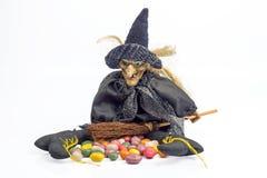 Halloween-heks met suikergoed Royalty-vrije Stock Afbeelding