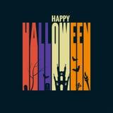 Halloween-het concept van het achtergrondvakantieontwerp Stock Afbeelding