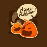 Halloween-het grijnzen pompoenen Stock Foto's