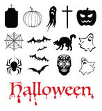 Halloween, het leven verder, het verdere leven en Dia DE muertos Stock Foto's