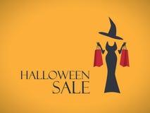 Halloween-het malplaatje van de verkoopaffiche Speciale Vakantie Stock Foto