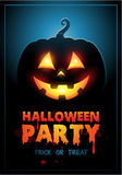 Halloween-het malplaatje van het Partijontwerp met pompoen en Royalty-vrije Stock Foto's