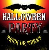Halloween-het malplaatjeaffiche van het Partijontwerp Stock Afbeeldingen