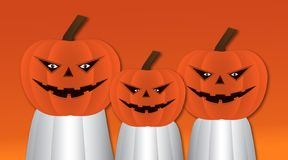 Halloween-het ontwerp van het pompoenenkarakter royalty-vrije illustratie