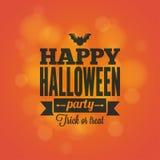 Halloween-het ontwerpachtergrond van de vakantiekaart Stock Afbeelding