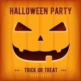 Halloween-het Ontwerpmalplaatje van de Partijaffiche met oranje pompoen Royalty-vrije Stock Fotografie