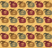 Halloween-het patroon van het pompoengezicht Stock Foto's