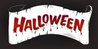 Halloween-het van letters voorzien Stock Afbeeldingen
