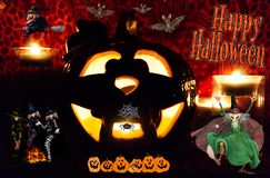 Halloween heureux à partout dans le monde illustration stock