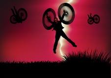 Halloween heureux avec la carte de voeux Image libre de droits