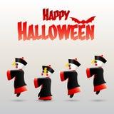 Halloween heureux avec le zombi chinois Photographie stock